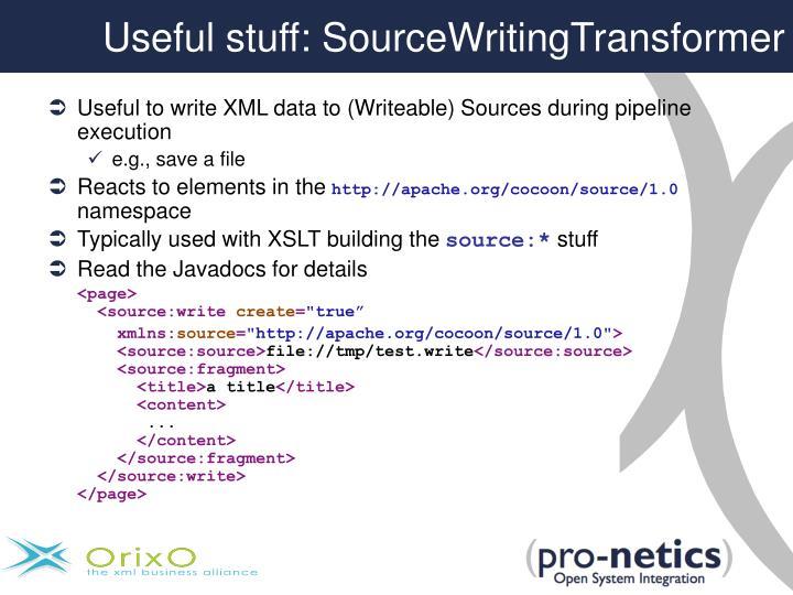 Useful stuff: SourceWritingTransformer