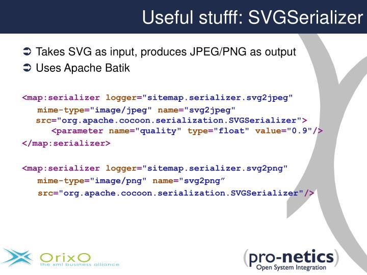 Useful stufff: SVGSerializer