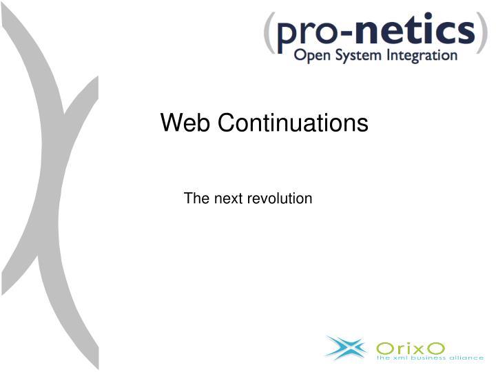 Web Continuations