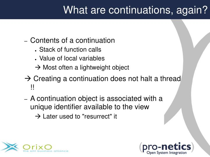 What are continuations, again?