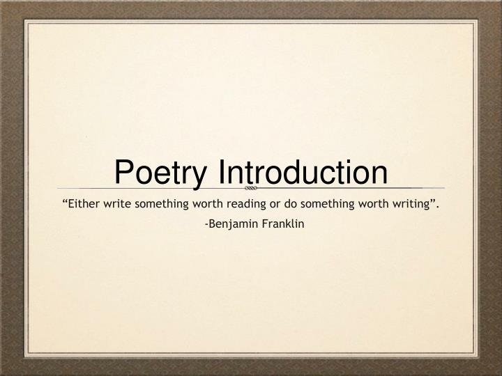should i buy college poetry powerpoint presentation