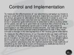 control and implementation