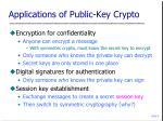 applications of public key crypto