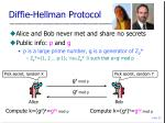 diffie hellman protocol