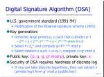 digital signature algorithm dsa