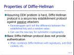 properties of diffie hellman