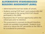 alternative standardized reading assessment asra