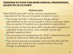 changes to fcat for high school graduation class of 2013 cont