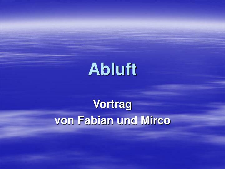 Abluft