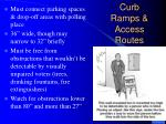 curb ramps access routes