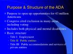 purpose structure of the ada