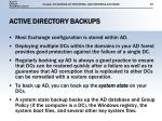 active directory backups