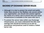 backing up exchange server roles