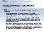 cas role configuration backups