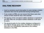 dial tone recovery
