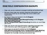 edge role configuration backups2