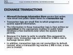 exchange transactions