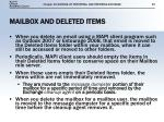 mailbox and deleted items