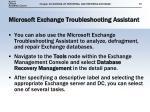 microsoft exchange troubleshooting assistant