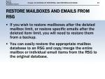 restore mailboxes and emails from rsg