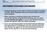 restoring exchange databases