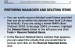 restoring mailboxes and deleting items1