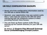 um role configuration backups