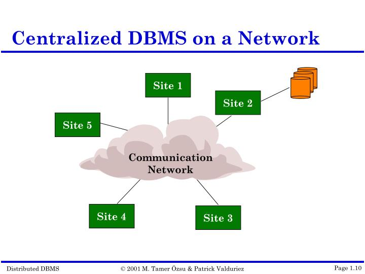 Centralized DBMS on a Network