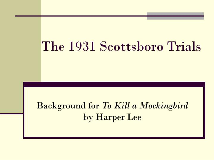 scottsboro trial research paper Scottsboro boys please write about exploration of the legal system due to scottsboro trial and how it exchanged hope for our research paper writing service is.