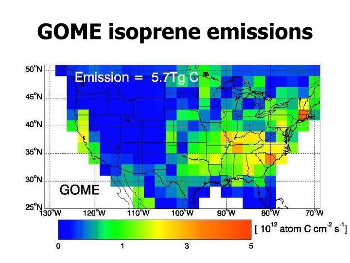 GOME isoprene emissions