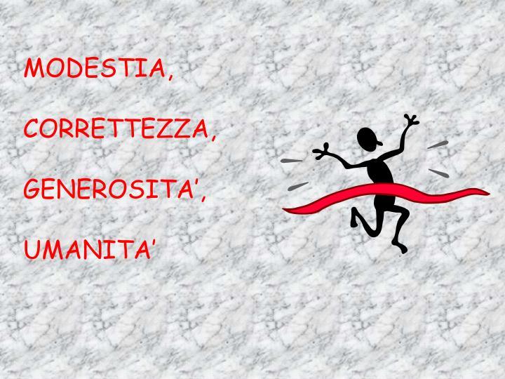 MODESTIA,