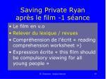 saving private ryan apr s le film 1 s ance