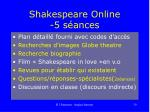 shakespeare online 5 s ances