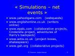 simulations net events