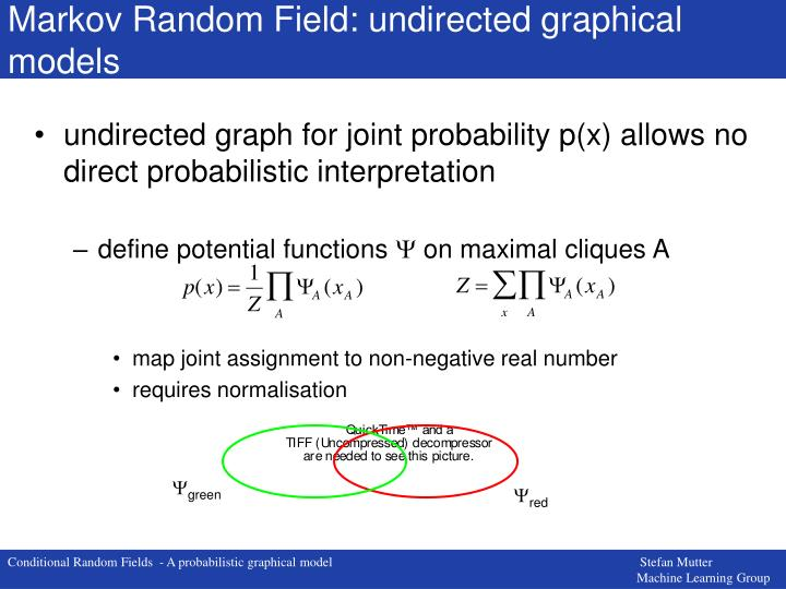 Markov Random Field: undirected graphical models