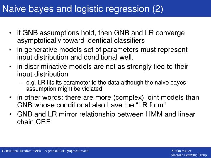 Naive bayes and logistic regression (2)