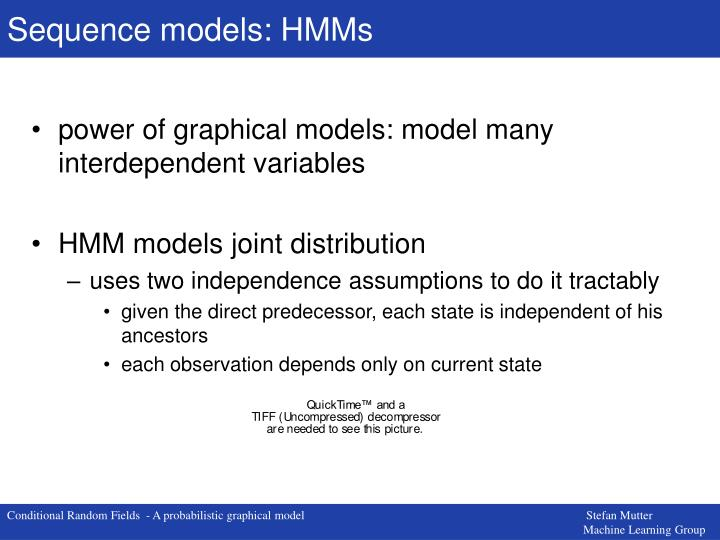 Sequence models: HMMs