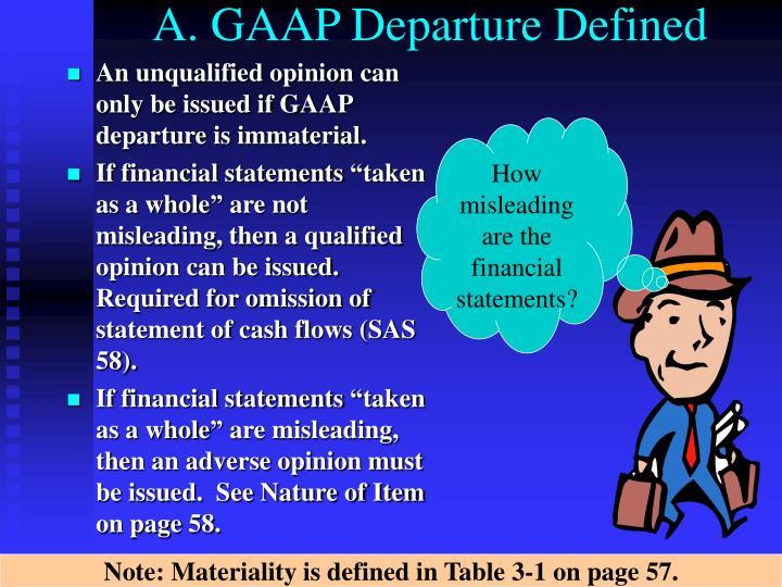 A. GAAP Departure Defined