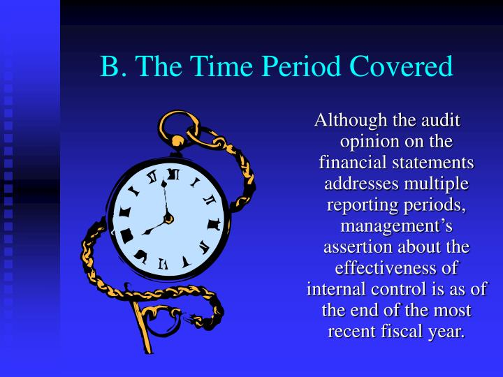 B. The Time Period Covered
