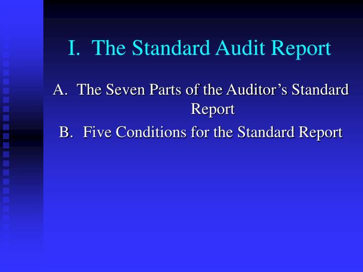 I the standard audit report