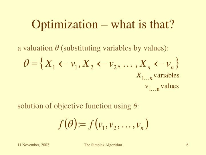 Optimization – what is that?