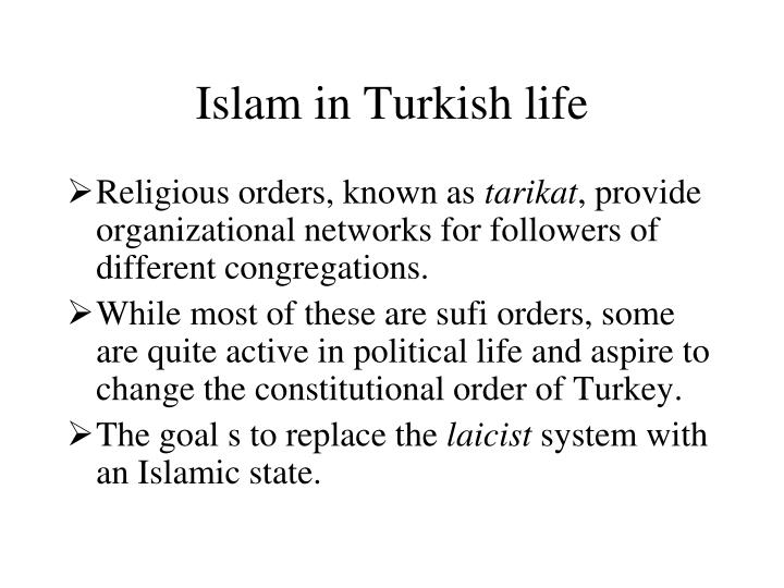 Islam in Turkish life