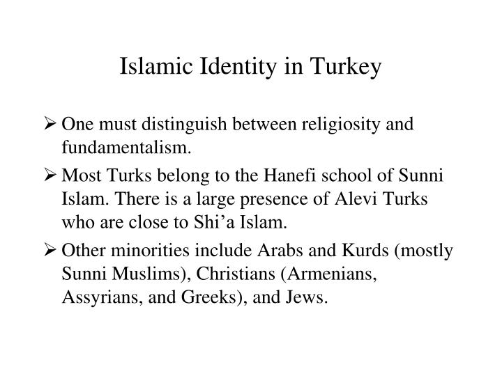 Islamic Identity in Turkey