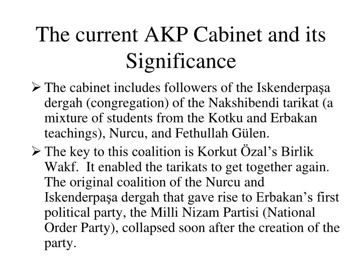 The current AKP Cabinet and its Significance