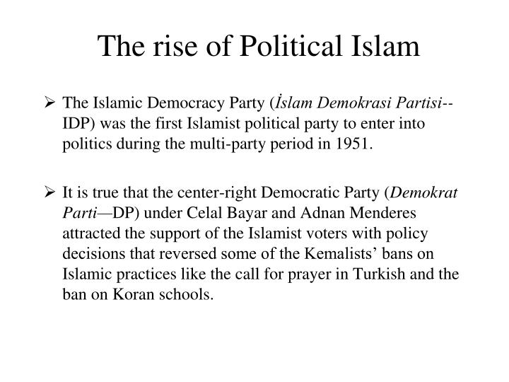 The rise of Political Islam
