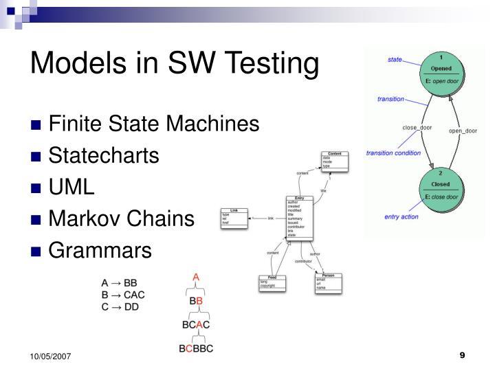 Models in SW Testing