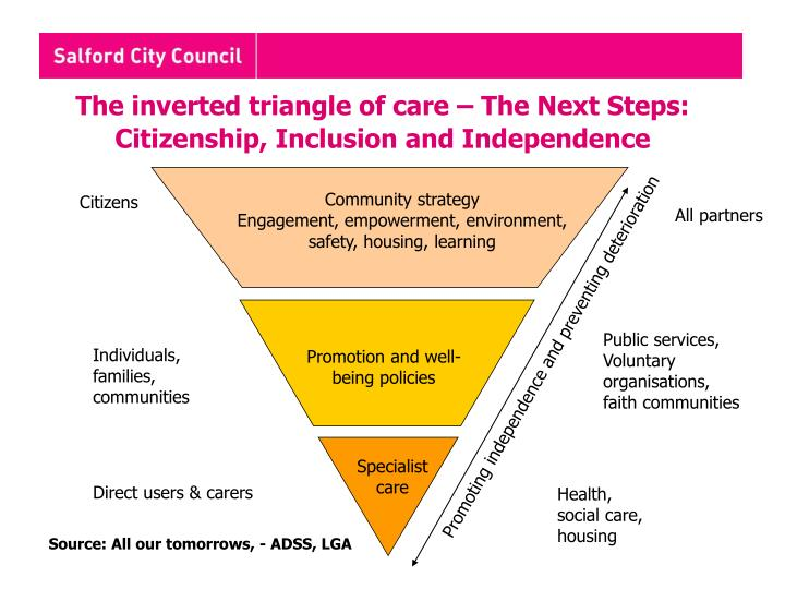 The inverted triangle of care – The Next Steps: