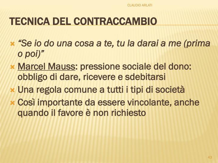 TECNICA DEL CONTRACCAMBIO
