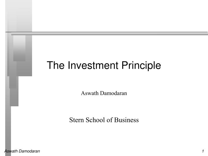 the investment principle n.