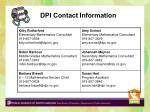 dpi contact information